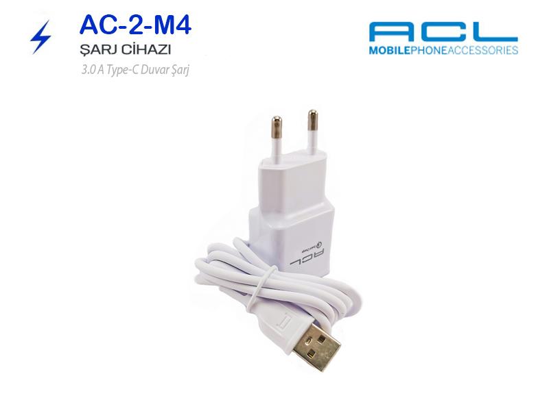 ACL Type-C 3.0 Hızlı Şarj Aleti-Cihazı 3A M4