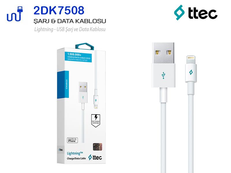 TTEC Apple iPhone Uyumlu Hızlı Şarj-Data Kablosu 2DK7508B