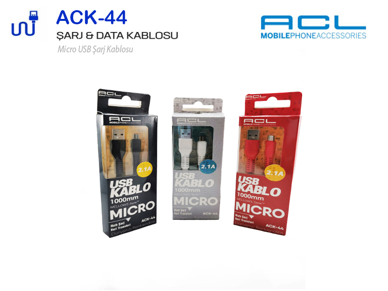 ACL Micro Şarj-Data Kablosu Samsung Uyumlu 2.1A ACK44