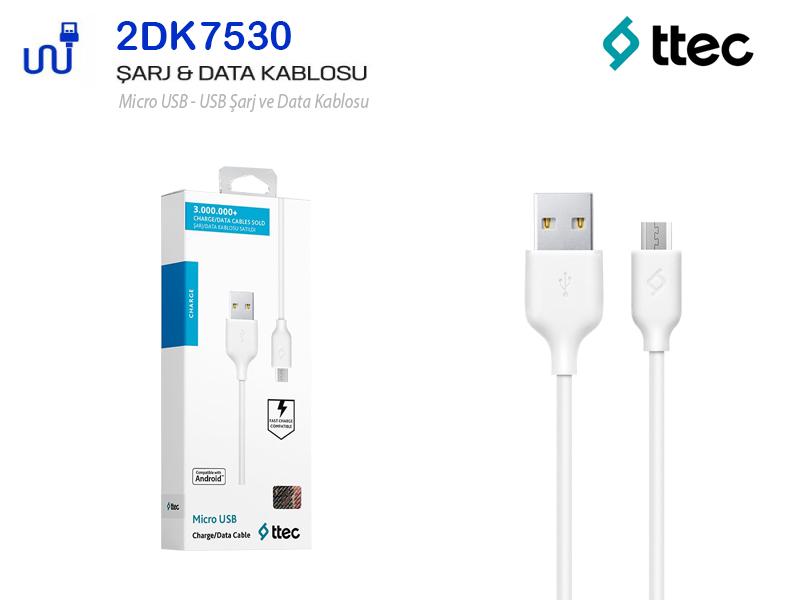 TTEC Micro Şarj-Data Kablosu Android Samsung Uyumlu 2DK7530
