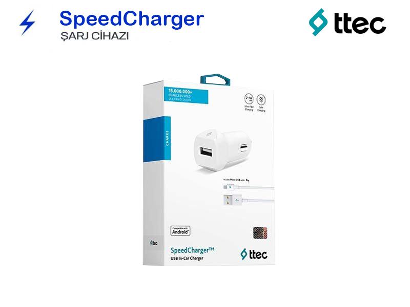 TTEC Araç içi-Çakmaklık Şarj Aleti Micro Kablolu 2.1A 2CKS01