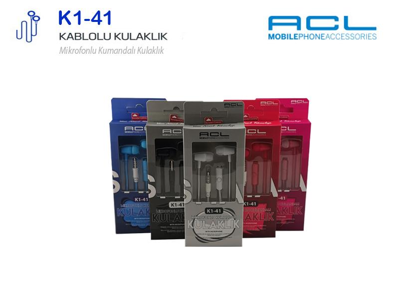 ACL Mikrofonlu Kablolu Kulak İçi Kulaklık 3.5mm Jack K141